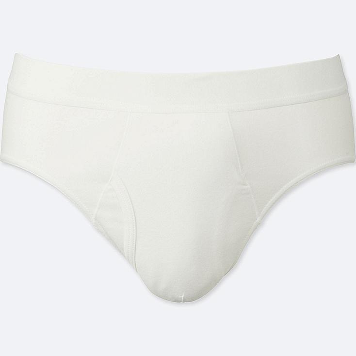 MEN SUPIMA® COTTON BRIEFS, WHITE, large