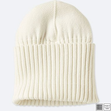 U HEATTECH KNITTED CAP, WHITE, medium