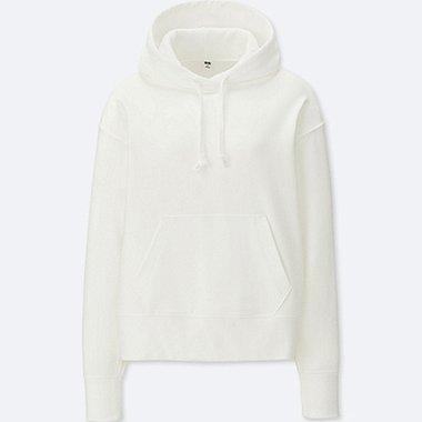 WOMEN LONG-SLEEVE HOODED SWEATSHIRT, WHITE, medium