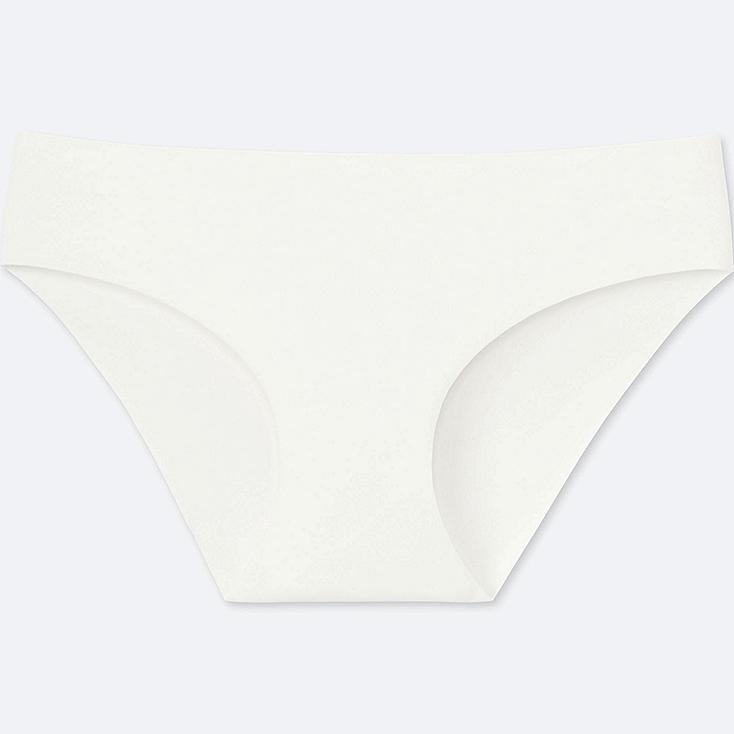 WOMEN AIRism ULTRA SEAMLESS BIKINI SHORTS, WHITE, large