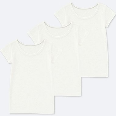 TODDLER COTTON INNER SHORT-SLEEVE T-SHIRT (SET OF 3), WHITE, medium