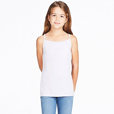 GIRLS AIRism BRA TOP, WHITE, medium