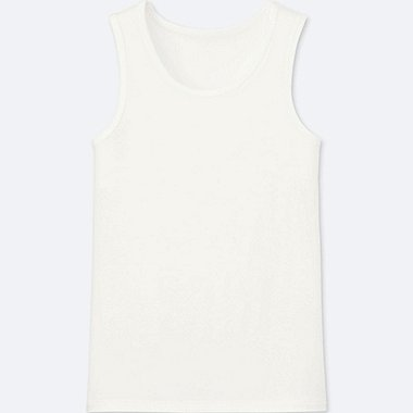 KIDS AIRism TANK TOP, WHITE, medium