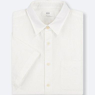 Herren Leinen-Baumwoll-Mix Hemd (Kurzarm)