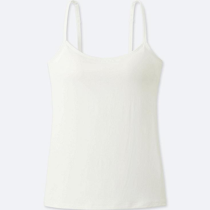 WOMEN AIRism BRA CAMISOLE, WHITE, large