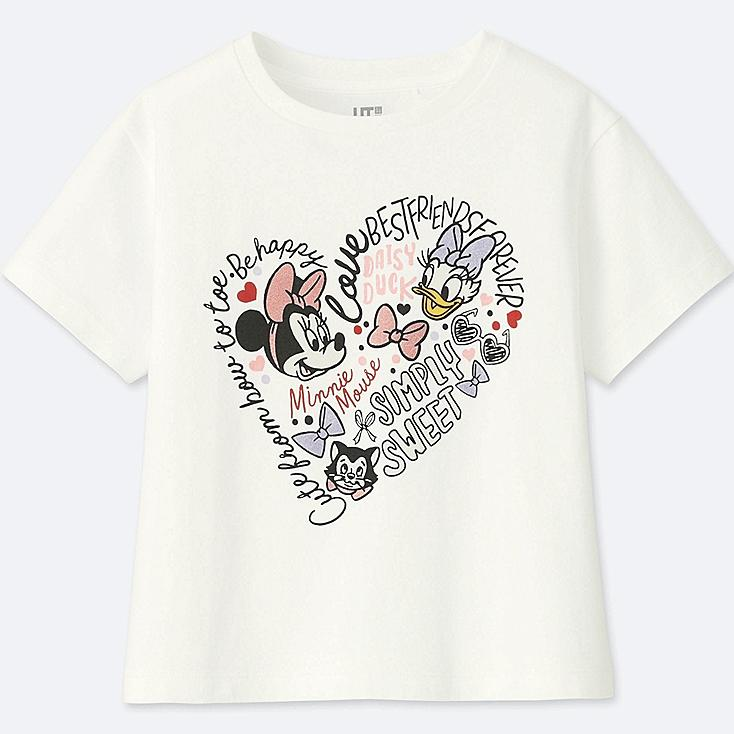GIRLS MINNIE MOUSE BEST FRIENDS FOREVER SHORT-SLEEVE GRAPHIC T-SHIRT, WHITE, large