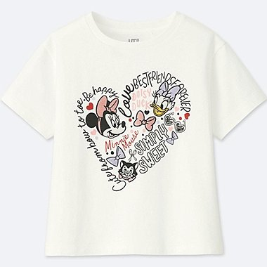 GIRLS MINNIE MOUSE BEST FRIENDS FOREVER SHORT-SLEEVE GRAPHIC T-SHIRT, WHITE, medium