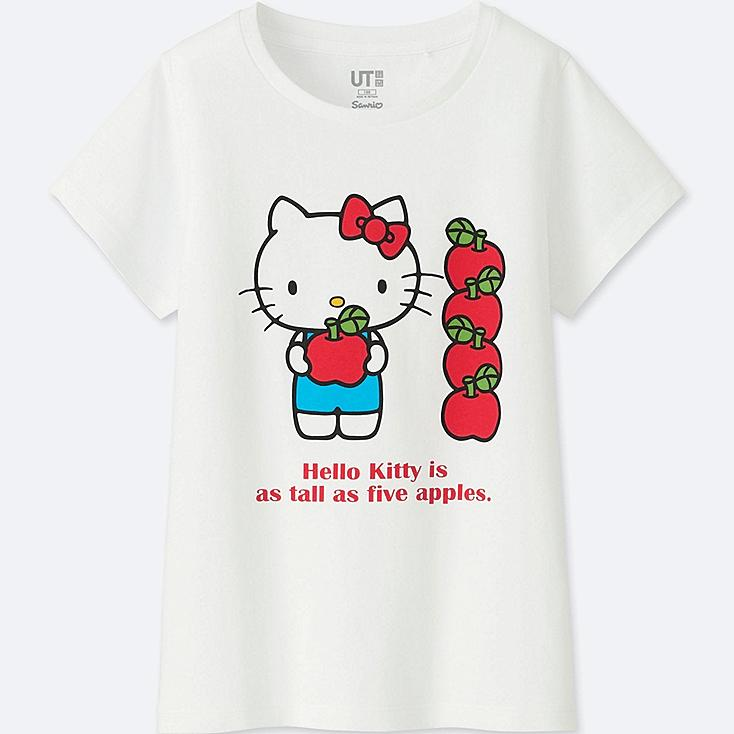 GIRLS SANRIO CHARACTERS SHORT-SLEEVE GRAPHIC T-SHIRT, WHITE, large