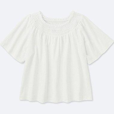 Mädchen T-Shirt (Gerafft)
