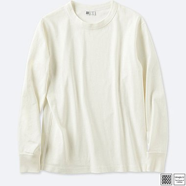 MEN UNIQLO U CREW NECK LONG SLEEVE T-SHIRT