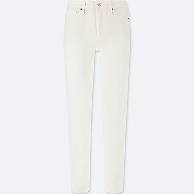 WOMEN HIGH-RISE CIGARETTE JEANS, WHITE, medium