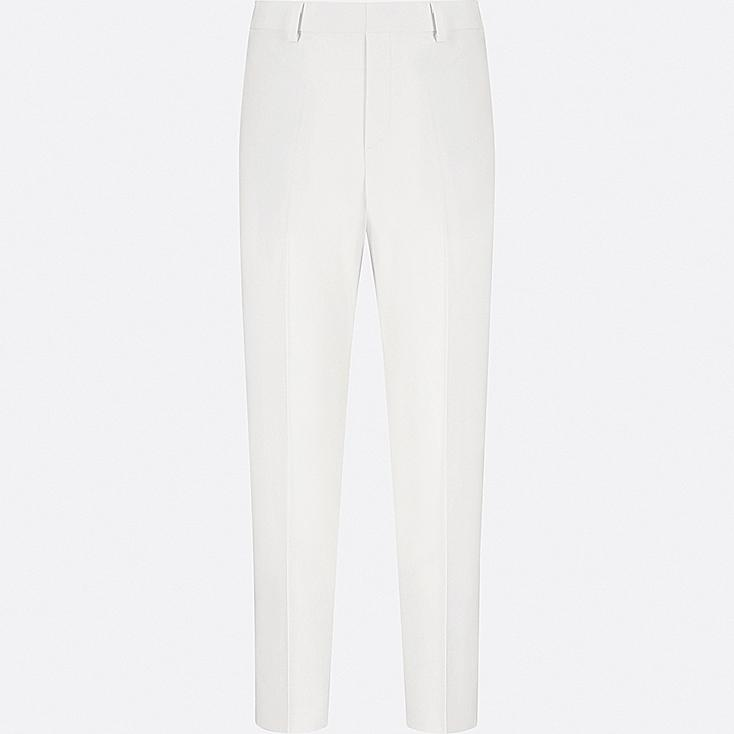 WOMEN SMART STYLE ANKLE-LENGTH PANTS, WHITE, large