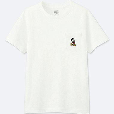 KIDS MICKEY STANDS SHORT-SLEEVE POCKET T-SHIRT, WHITE, medium