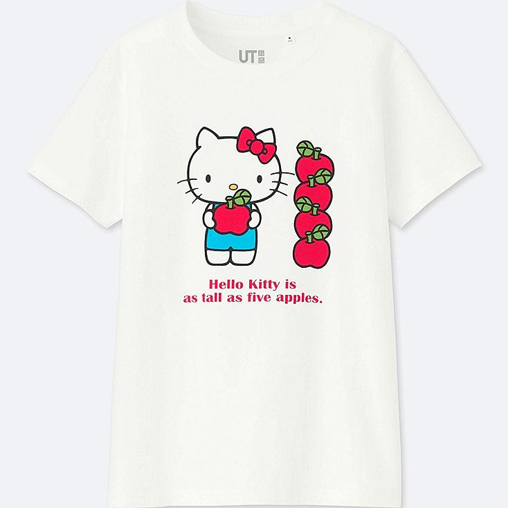 WOMEN SANRIO CHARACTERS SHORT-SLEEVE GRAPHIC T-SHIRT, WHITE, large