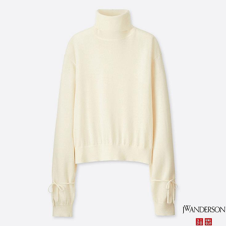 PULL OVERSIZED MÉRINOS EXTRA FIN COL roulé J.W. ANDERSON FEMME