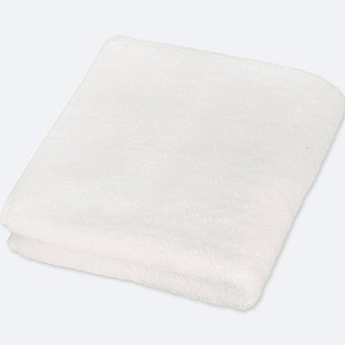FACE TOWEL, WHITE, medium