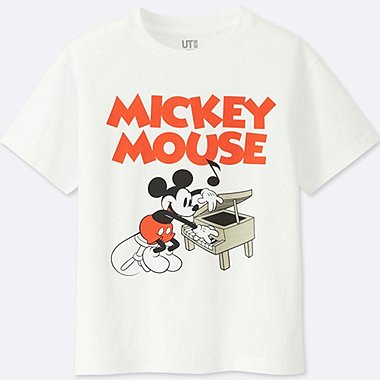 KIDS SOUNDS OF DISNEY GRAPHIC T-SHIRT, WHITE, medium