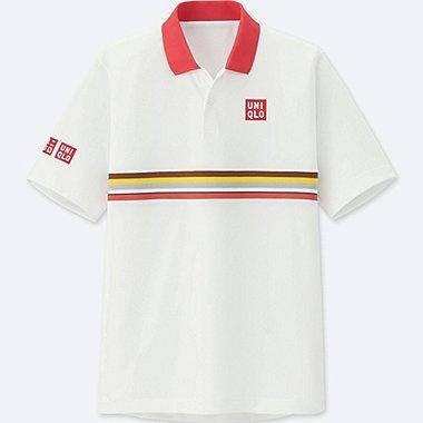 Herren Kei Nishikori DRY-EX FRENCH CHAMPIONSHIP 2018 Poloshirt