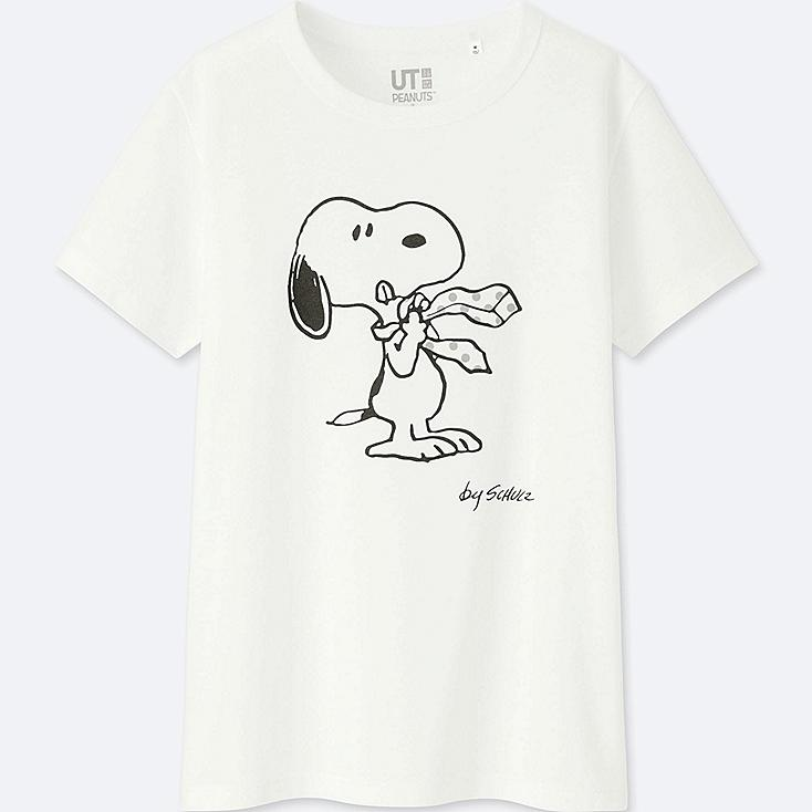 WOMEN PEANUTS SHORT-SLEEVE GRAPHIC T-SHIRT, WHITE, large