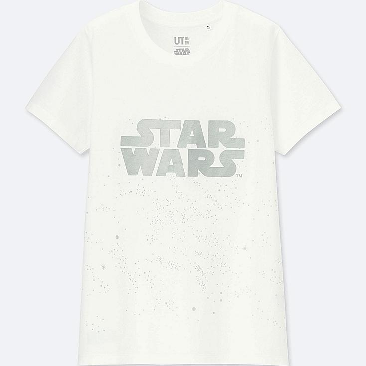 WOMEN STAR WARS: THE LAST JEDI GRAPHIC T-SHIRT, WHITE, large
