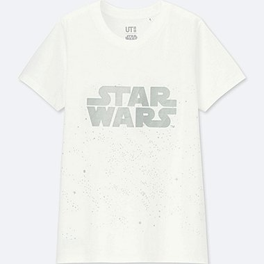 WOMEN STAR WARS: THE LAST JEDI GRAPHIC T-SHIRT, WHITE, medium