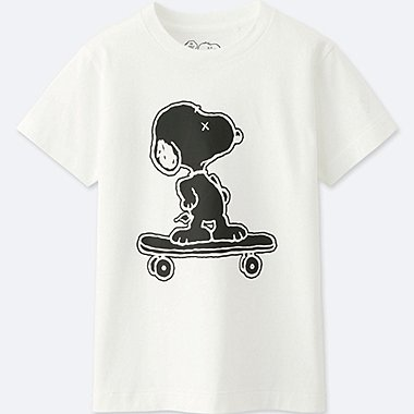 KIDS KAWS X PEANUTS SHORT-SLEEVE GRAPHIC T-SHIRT, WHITE, medium