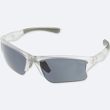 HALF RIM SUNGLASSES, WHITE, medium