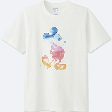 MICKEY & THE SUN SHORT-SLEEVE GRAPHIC T-SHIRT, WHITE, medium