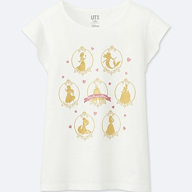 GIRLS SOUNDS OF DISNEY GRAPHIC T-SHIRT, WHITE, medium