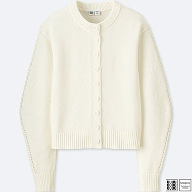 WOMEN UNIQLO U 100% COTTON BALLOON SLEEVE CARDIGAN