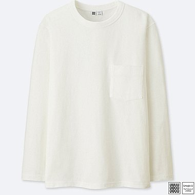 MEN UNIQLO U 100% cotton Crew Neck Long Sleeve T-Shirt