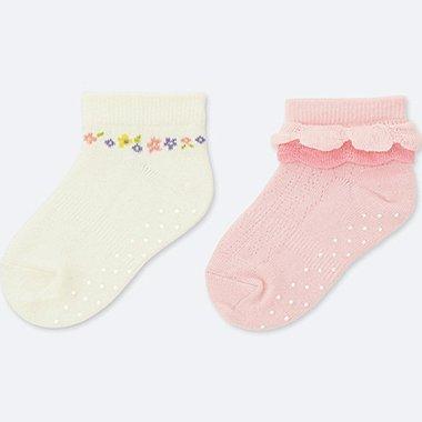 BABY SHORT SOCKS (2 PAIRS), WHITE, medium