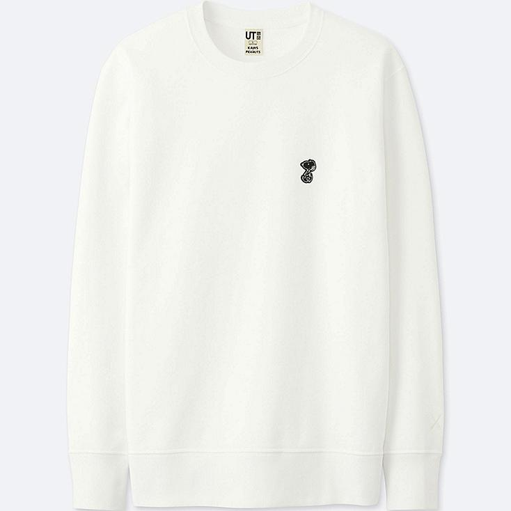 MEN KAWS X PEANUTS SWEATSHIRT, WHITE, large