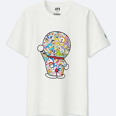 DORAEMON X TAKASHI MURAKAMI SHORT-SLEEVE GRAPHIC T-SHIRT, WHITE, medium