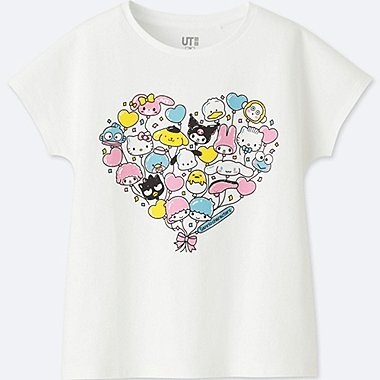 GIRLS SANRIO Characters Short Sleeve Graphic T-Shirt