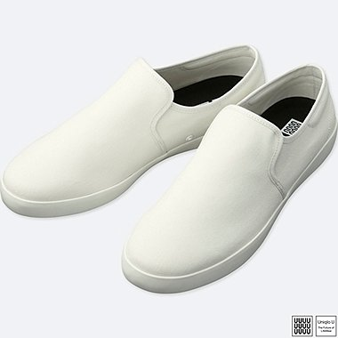 MEN U SLIP-ON SNEAKERS, WHITE, medium