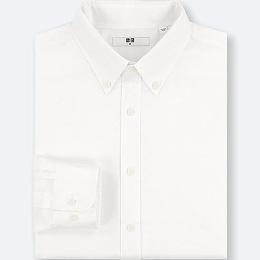 MEN EASY CARE OXFORD REGULAR-FIT LONG-SLEEVE SHIRT (ONLINE EXCLUSIVE), WHITE, medium
