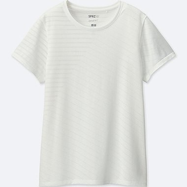 WOMEN SPRZ NY Dry-EX Mapping Patterned Short Sleeve T-shirt (Francois Morellet)
