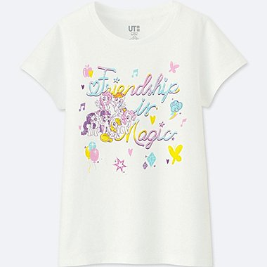 GIRLS MY LITTLE PONY GRAPHIC T-SHIRT, WHITE, medium