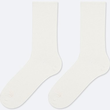 WOMEN HEATTECH SOCKS (2 PAIRS), WHITE, medium