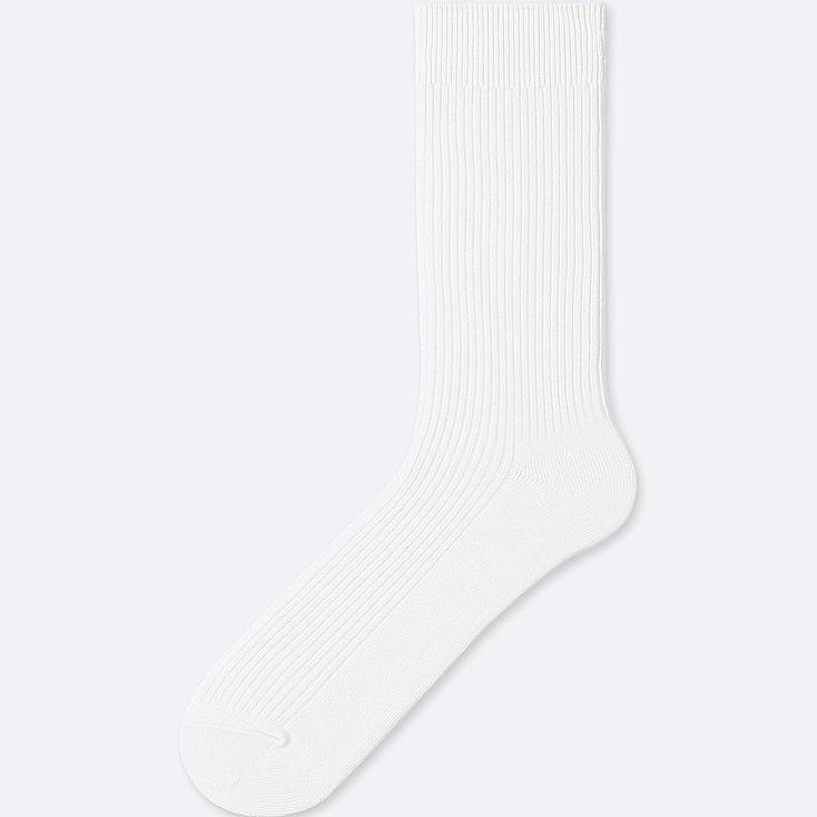 MEN COLOR SOCKS, WHITE, large