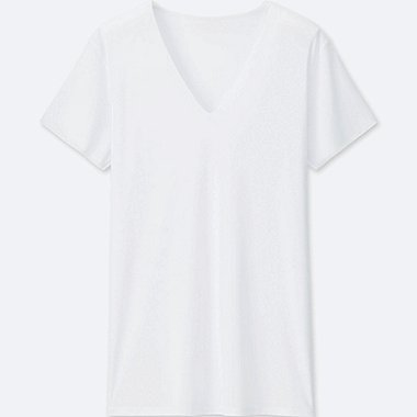 T-SHIRT AIRism SEAMLESS COL V HOMME