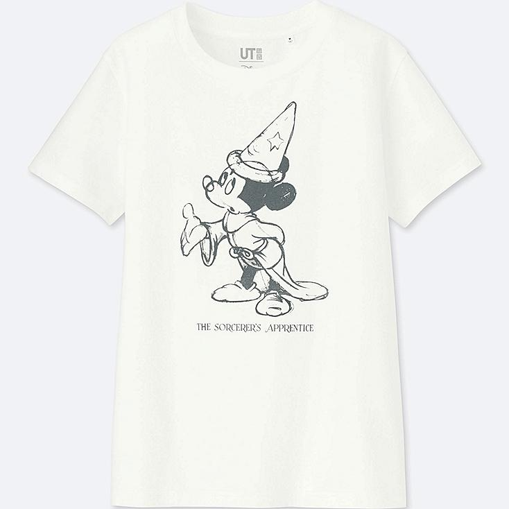 WOMEN DISNEY FANTASIA COLLECTION GRAPHIC T-SHIRT, WHITE, large