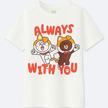 KIDS LINE FRIENDS SHORT-SLEEVE GRAPHIC T-SHIRT, WHITE, medium