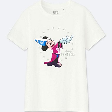 WOMEN DISNEY FANTASIA COLLECTION GRAPHIC T-SHIRT, WHITE, medium