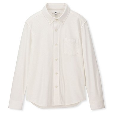 BOYS COMFORT SHIRT, WHITE, medium