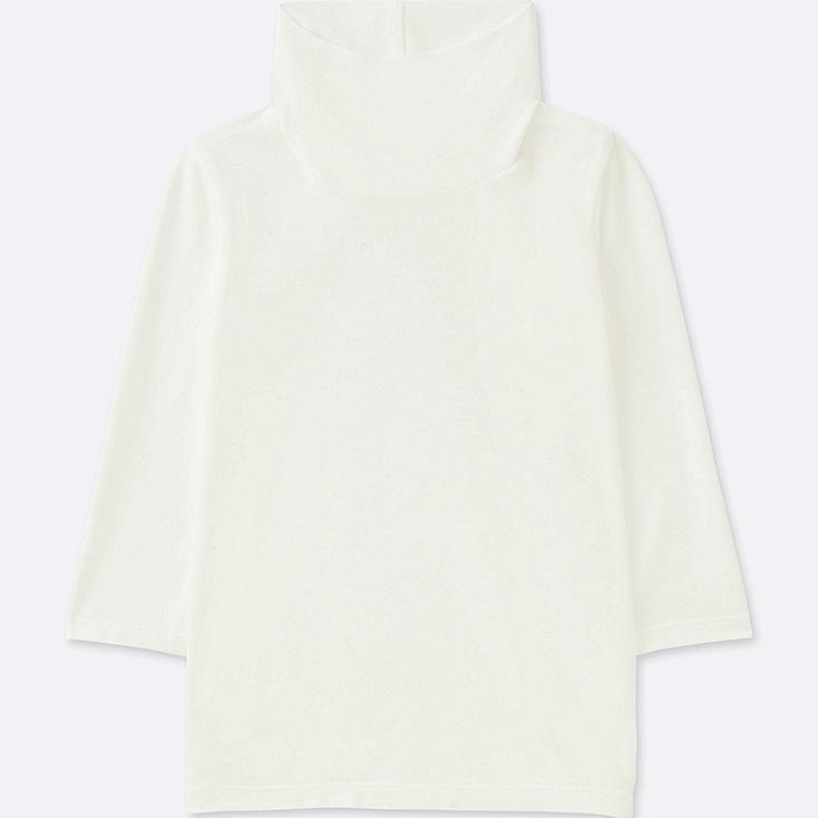 TODDLER HEATTECH TURTLENECK LONG-SLEEVE T-SHIRT, WHITE, large