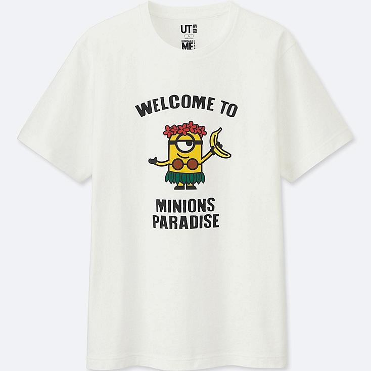 MINIONS SHORT-SLEEVE GRAPHIC T-SHIRT, WHITE, large