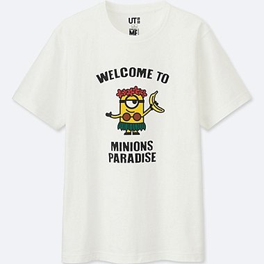 MINIONS SHORT-SLEEVE GRAPHIC T-SHIRT, WHITE, medium