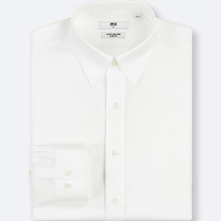 chemise sans repassage slim fit col regulier homme uniqlo. Black Bedroom Furniture Sets. Home Design Ideas